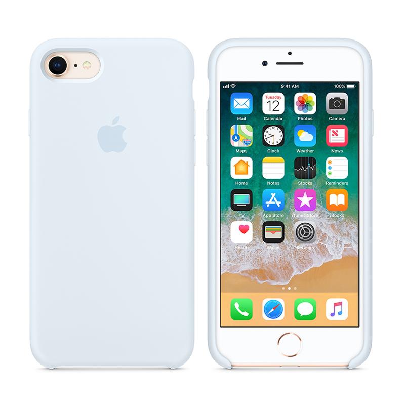 Originální kryt pro Apple iPhone 7 / 8 - silikonový - nebesky modrý