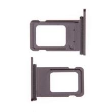 Rámeček / šuplík na Nano SIM pro Apple iPhone 11 - černý - kvalita A+