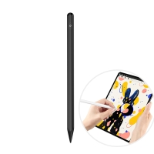 Dotykové pero / stylus - aktivní provedení - nabíjecí - silikonový hrot - černé