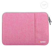 "Pouzdro se zipem HAWEEL pro Apple iPad 11"" - látkové - růžové"