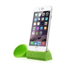 Přenosný silikonový stojánek KALAIXING se zesilovačem zvuku pro Apple iPhone 6 / 6S / 7 - zelený