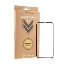 Tvrzené sklo (Tempered Glass) Tactical pro Apple iPhone 13 / 13 Pro - černý rámeček - anti-blue-ray - 5D