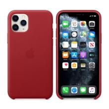 Originální kryt pro Apple iPhone 11 Pro - kožený - červený