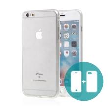 Pouzdro pro Apple iPhone 6 Plus / 6S Plus - celotělové - průhledné - gumové