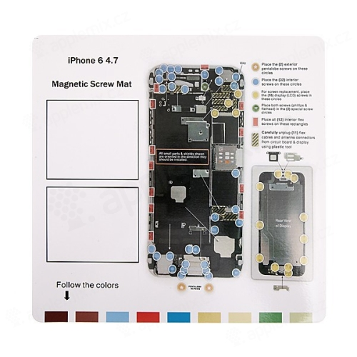 Magnetická podložka pro šroubky Apple iPhone 6 (rozměr 25x25cm)