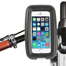 Pouzdro + držák na kolo / motorku pro Apple iPhone 4 / 4S / 5 / 5C / 5S / SE - voděodolné černé