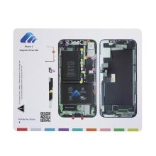 Magnetická podložka pro šroubky Apple iPhone X - (rozměr 25 x 20 cm)