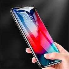Tvrzené sklo (Tempered Glass) ROCK pro Apple iPhone Xs Max - na přední stranu - černý okraj - 0,23mm