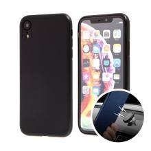 Kryt SULADA pro Apple iPhone Xr - gumový s magnetickým držákem - černý