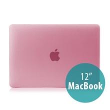 Tenký plastový obal / kryt pro Apple MacBook 12 Retina (rok 2015) - matný - růžový