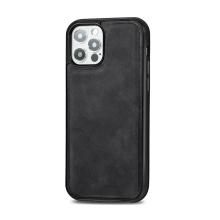 Kryt pro Apple iPhone 12 / 12 Pro - Magsafe - plastový / umělá kůže - černý