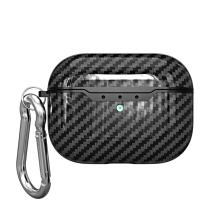 Pouzdro / obal pro Apple AirPods Pro - karbonová textura - gumové - černé