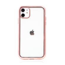 Kryt pro Apple iPhone 11 - gumový - Rose Gold - průhledný