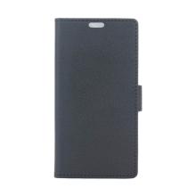 Pouzdro pro Apple iPhone Xr - stojánek + prostor pro platební karty - umělá kůže - černé