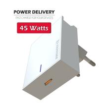Nabíječka / EU adaptér SWISSTEN - USB-C - 45W (PD 3.0) - bílá