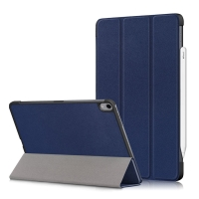 Pouzdro / kryt pro Apple iPad Air 4 (2020) - funkce chytrého uspání - umělá kůže - modré