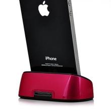 Přenosná dokovací stanice (Dock Station) pro Apple iPhone / iPod - červená