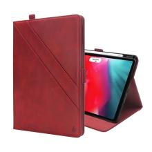"""Pouzdro pro Apple iPad Pro 12,9"""" (2018) - prostor pro dokumenty + stojánek - umělá kůže - červené"""
