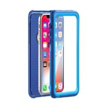 Pouzdro pro Apple iPhone X / Xs - voděodolné - plast / silikon - modré