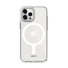 Kryt EPICO pro Apple iPhone 12 / 12 Pro - podpora MagSafe - sklo / guma - průhledný