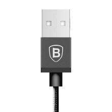 Synchronizační a nabíjecí kabel BASEUS - MFi Lightning pro Apple zařízení - tkanička - černý - 1m