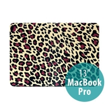 Plastový obal pro Apple MacBook Pro 13 Retina (model A1425, A1502) - leopardí vzor - žlutý