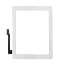 Přední dotykové sklo (touch screen) pro Apple iPad 4.gen. - osazený - černý rámeček