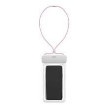 Pouzdro BASEUS pro Apple iPhone - voděodolné - plast / guma - růžové / bílé