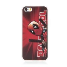 Kryt MARVEL pro Apple iPhone 5 / 5S / SE - gumový - Deadpool - červený