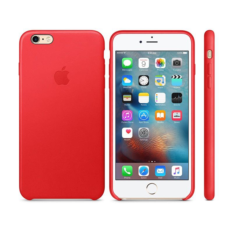 Originální kryt pro Apple iPhone 6 Plus / 6S Plus - kožený - červený