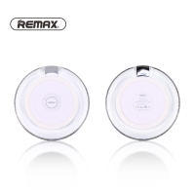 Bezdrátová nabíječka / nabíjecí podložka Qi REMAX - svíticí - plastová - bílá / průhledná