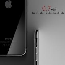 Kryt CAFELE pro Apple iPhone X - gumový / pokovené hrany