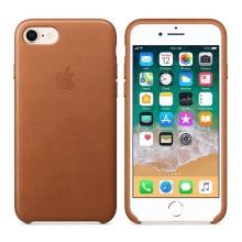 Originální kryt pro Apple iPhone 7 Plus / 8 Plus - kožený - sedlově hnědý
