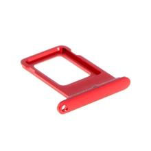 Rámeček / šuplík na Nano SIM pro Apple iPhone Xr - červený (Red) - kvalita A+