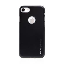 Kryt MERCURY Jelly pro Apple iPhone 7 / 8 - výřez pro logo - gumový - černý