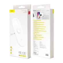 Bezdrátová nabíječka / nabíjecí podložka Qi BASEUS 3v1 - pro Apple iPhone + Watch + Airpods - bílá