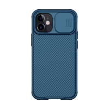 Kryt NILLKIN CamShield pro Apple iPhone 12 mini - MagSafe magnety + krytka kamery - tmavě modrý