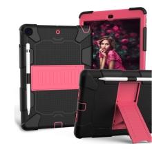 "Kryt / pouzdro pro Apple iPad 10,2"" - outdoor - odolný - se stojánkem - plastový / silikonový - černý / růžový"