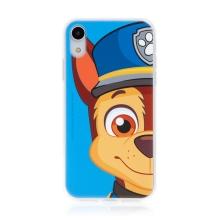 "Kryt ""Tlapková patrola"" pro Apple iPhone Xr - gumový - Chase - modrý"