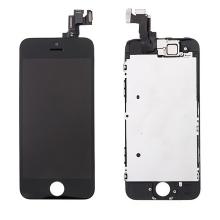 Osazená přední čast (LCD panel, touch screen digitizér atd.) pro Apple iPhone 5S / SE - černý - kvalita A+