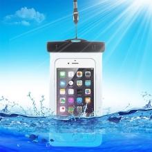Pouzdro pro Apple iPhone voděodolné gumové / plastové - průhledné / černé
