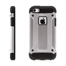 Kryt pro Apple iPhone 5 / 5S / SE - plasto-gumový / antiprachové záslepky - šedý