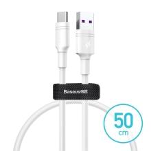 Synchronizační a nabíjecí kabel BASEUS USB-C - USB 3.0 - bílý