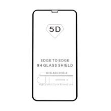 """Tvrzené sklo (Tempered Glass) """"5D"""" pro Apple iPhone Xs Max / 11 Pro Max - 2,5D - černý rámeček - čiré - 0,3mm"""