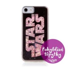 Kryt STAR WARS pro Apple iPhone 6 / 6S / 7 / 8 / SE (2020) - pohyblivá srdíčka - gumový - černý
