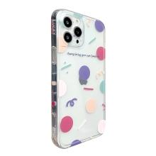 Kryt pro Apple iPhone 12 / 12 Pro - puntíky a girlandy - gumový