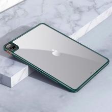 """Kryt / obal pro Apple iPad 12,9"""" (2018 / 2020 / 2021) - průhledný - plastový / gumový - zelený"""