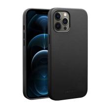 Kryt QIALINO pro Apple iPhone 12 Pro Max - kožený - černý