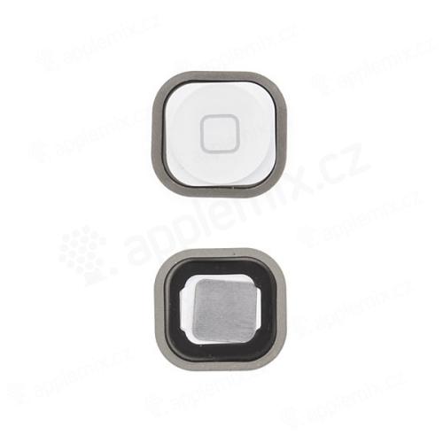Tlačítko Home Button se silikonovou podložkou pro Apple iPod touch 5.gen. - bílé