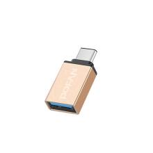 Přepojka / redukce USB-C samec na USB-A 3.0 samice - kovová - zlatá